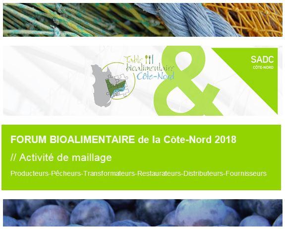 Forum bioalimentaire de la Côe-Nord